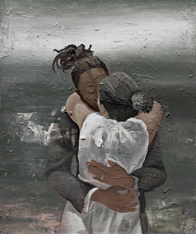 Shirin & Khaled   / 60X50 cm / Mixed media on canvas